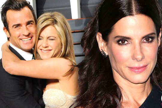 sandra bullock brings new boyfriend to jennifer aniston wedding PP