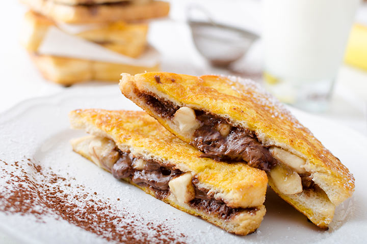 Banana And Chocolate French Toast