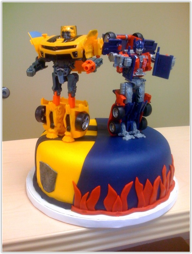 Dark Blue With Light Yellow Buttercream Transformer Birthday Cakes Image Ideas