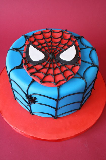 birthday cakes for boys spiderman