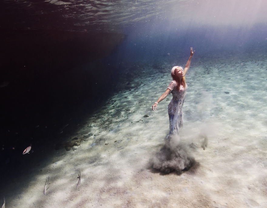 i travelled to bonaire island and photographed local children underwater 12 880
