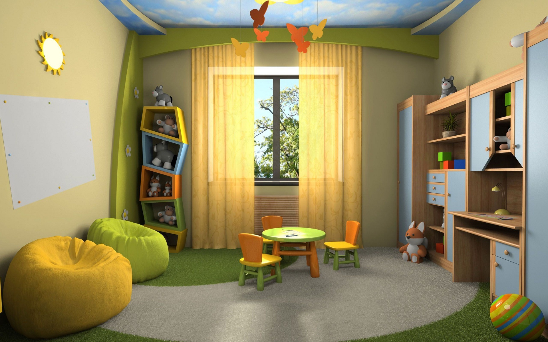 Kids drawing room interior HD wallpapers