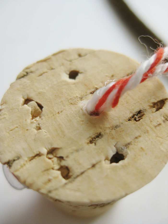 Wine cork reindeer ornament string