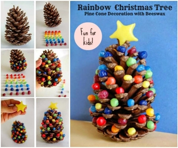 AD Creative Pinecone Crafts For Your Holiday Decorations 28