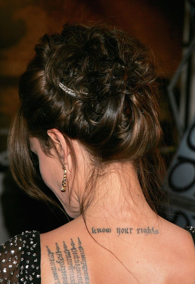 Angelina Jolie tattoos 8